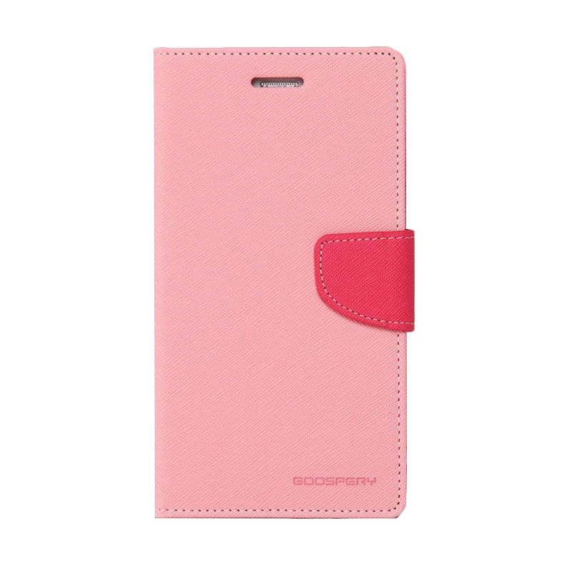 Mercury Goospery Fancy Diary Pink Hot Pink Casing for Galaxy Note 3 Neo