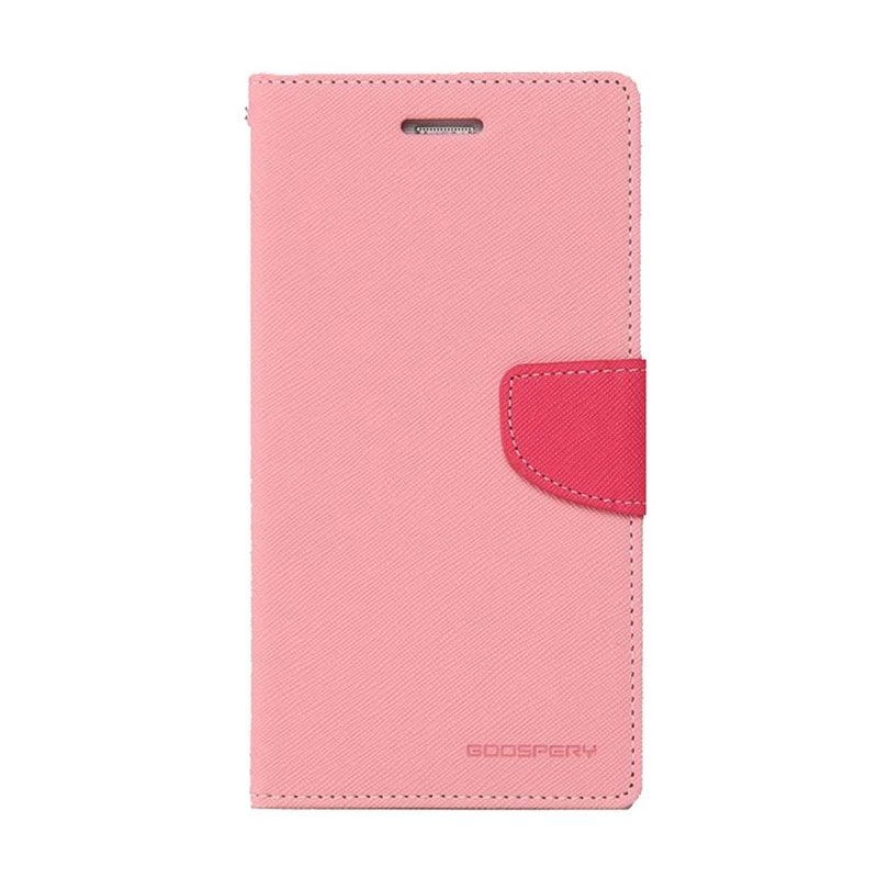 Mercury Goospery Fancy Diary Pink Hot Pink Casing for Galaxy Note 3