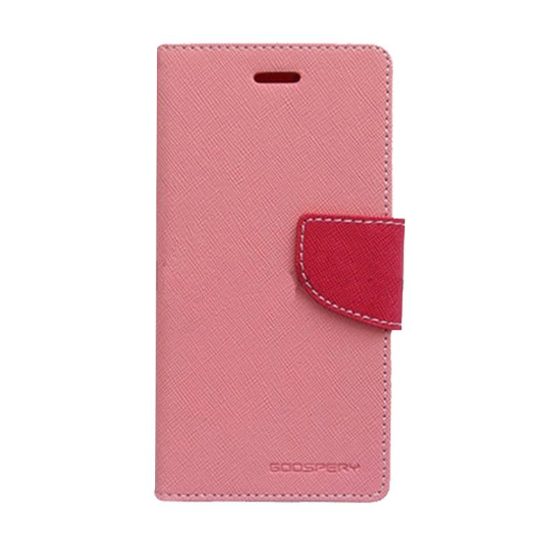 Mercury Goospery Fancy Diary Pink Hot Pink Casing for Galaxy Note 4