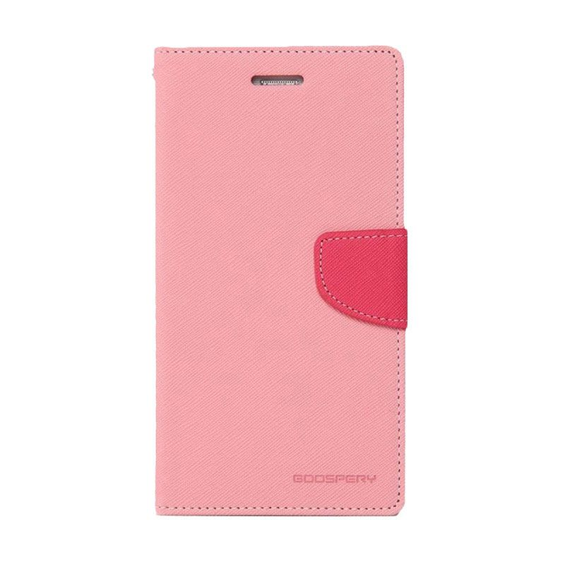 Mercury Goospery Fancy Diary Pink Hotpink Casing for Galaxy S5