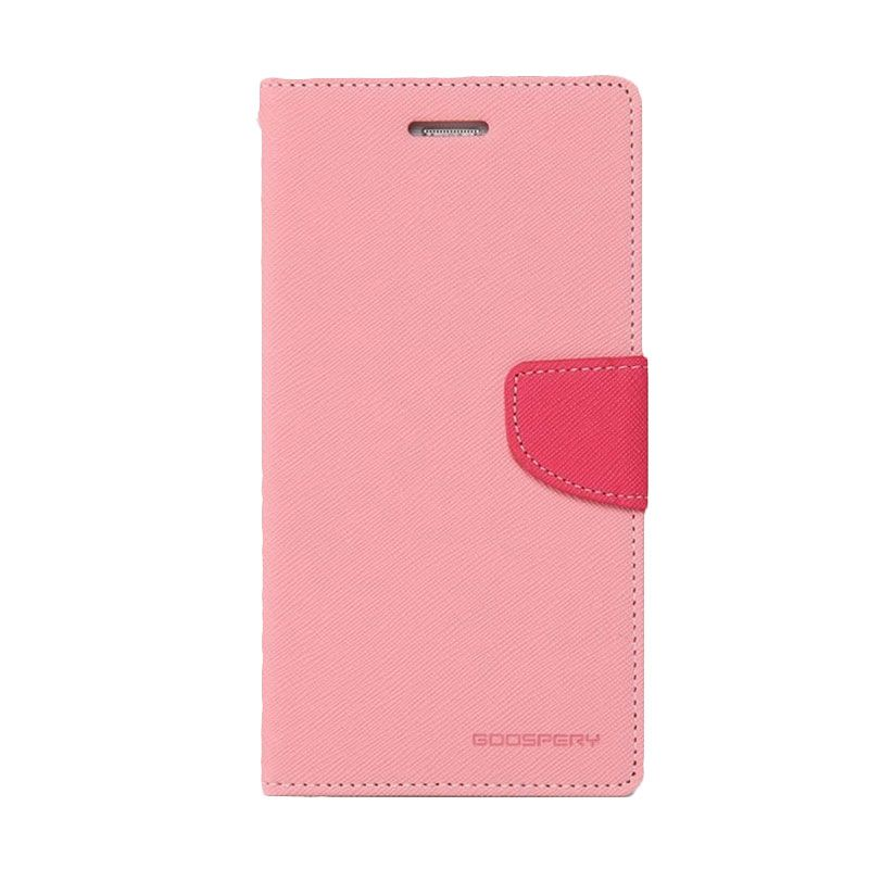 Mercury Goospery Fancy Diary Pink Hotpink Casing for Oppo Find 7