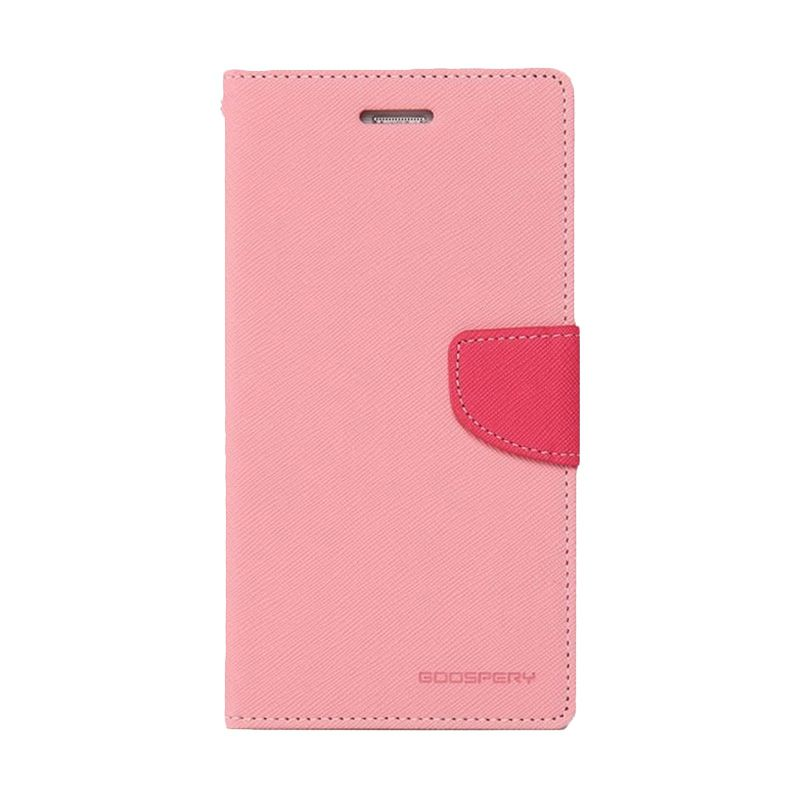 Mercury Goospery Fancy Diary Pink Hot Pink Casing for Samsung Galaxy Note 4 edge