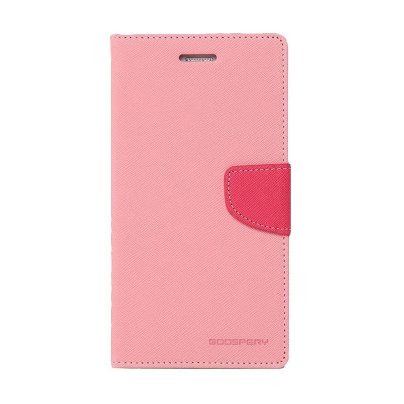 Mercury Goospery Fancy Diary Pink Hotpink Casing for Xiaomi Mi4i