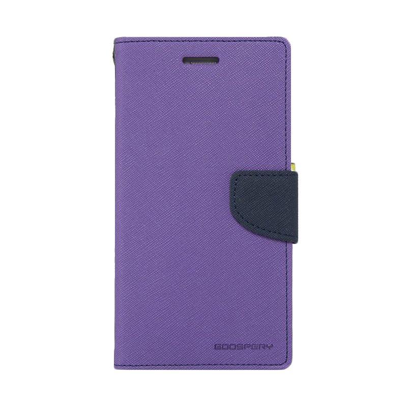 Mercury Goospery Fancy Diary Purple Navy Casing for Galaxy A3
