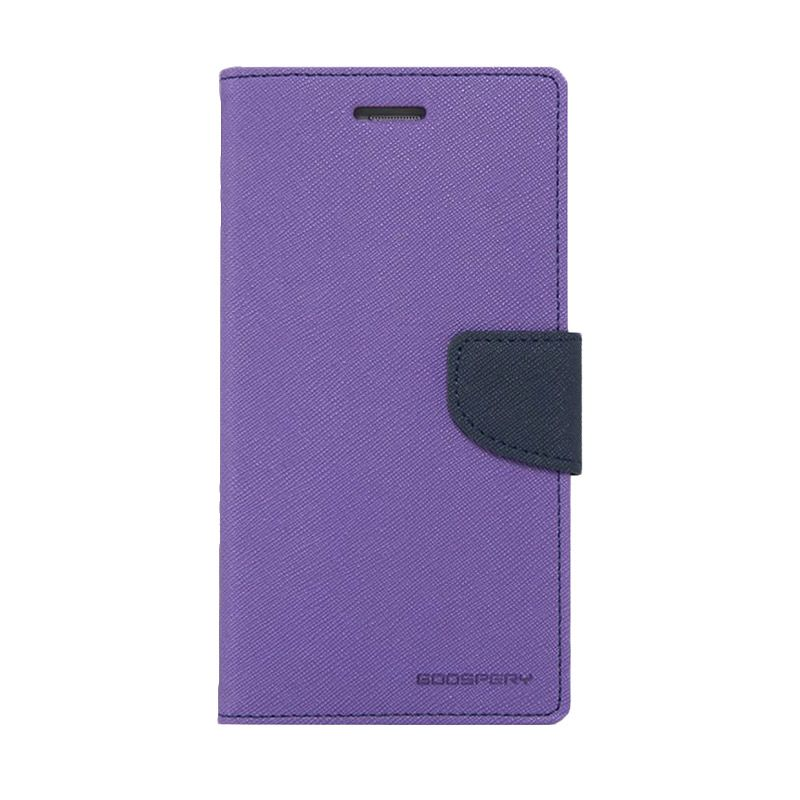 Mercury Goospery Fancy Diary Purple Navy Casing for Galaxy A7