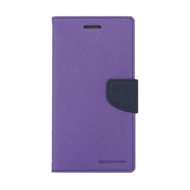 Mercury Goospery Fancy Diary Purple Navy Casing for Galaxy Ace 4 or Ace NXT