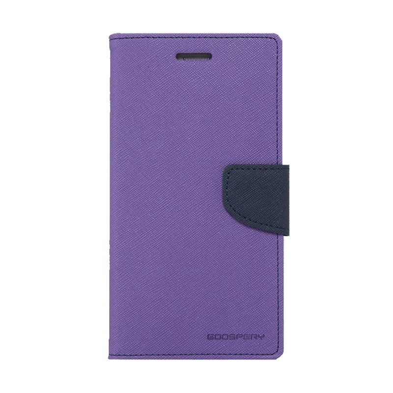 Mercury Goospery Fancy Diary Purple Navy Casing for Galaxy Note 3 Neo