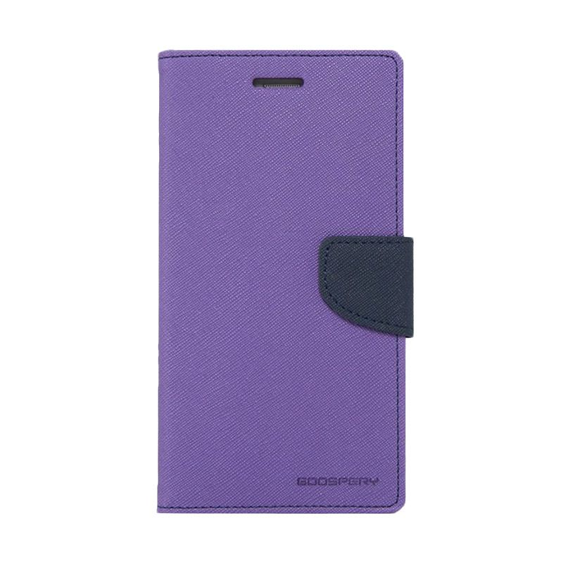 Mercury Goospery Fancy Diary Purple Navy Casing for Galaxy S6
