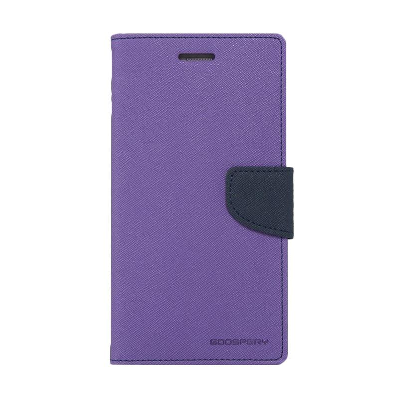 Mercury Goospery Fancy Diary Purple Navy Casing for Grand Prime