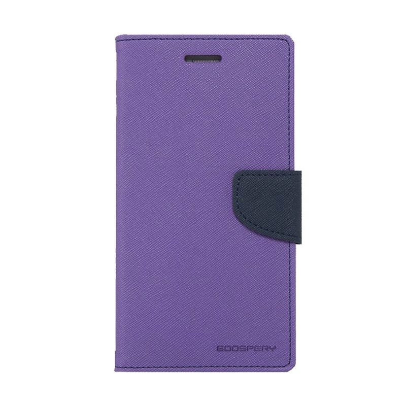 Mercury Goospery Fancy Diary Purple Navy Casing for Samsung Galaxy Note 4 edge