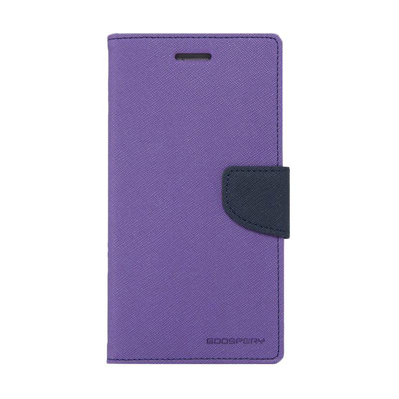 Mercury Goospery Fancy Diary Purple Navy Casing for Xiaomi Mi4