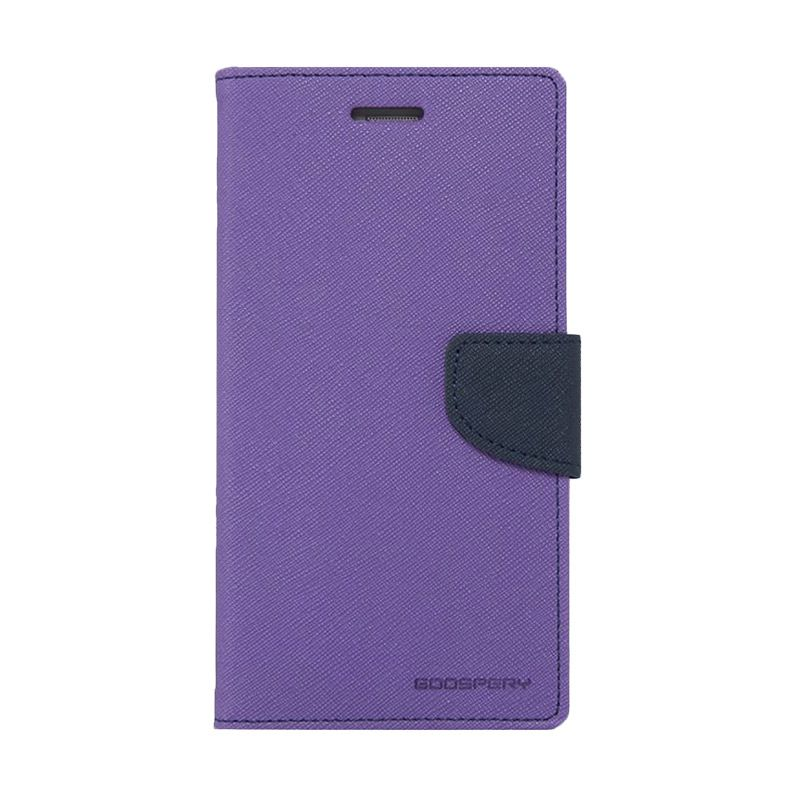 Mercury Goospery Fancy Diary Purple Navy Casing for Xiaomi Mi4i