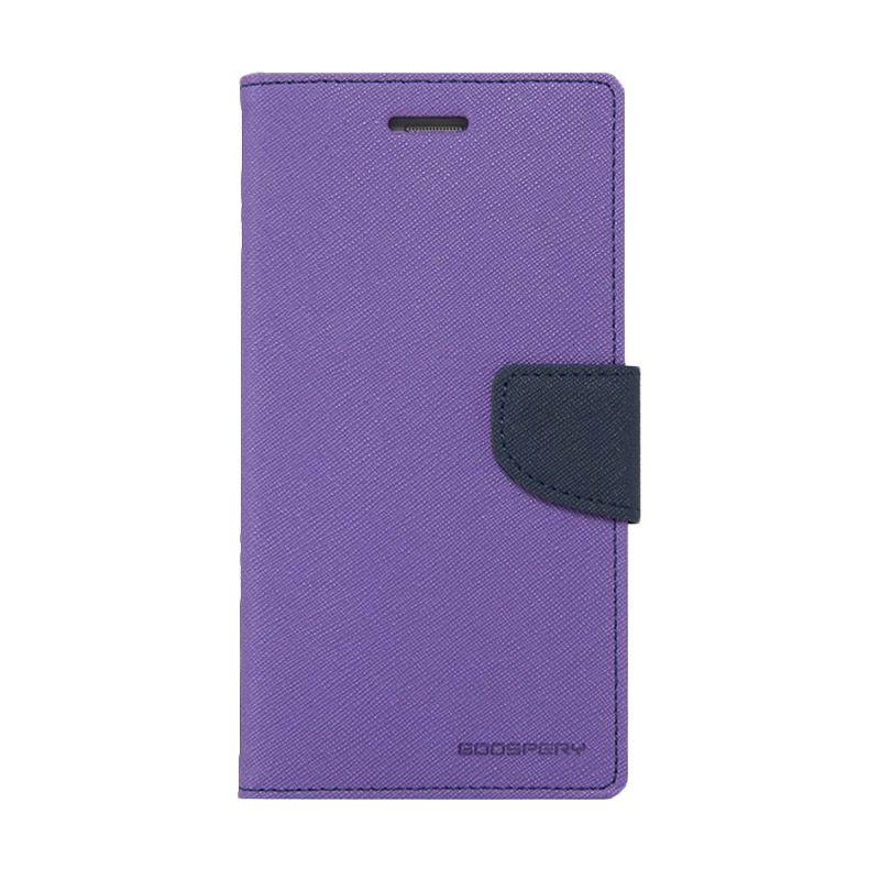 Mercury Goospery Fancy Diary Purple Navy Casing for Xperia T3