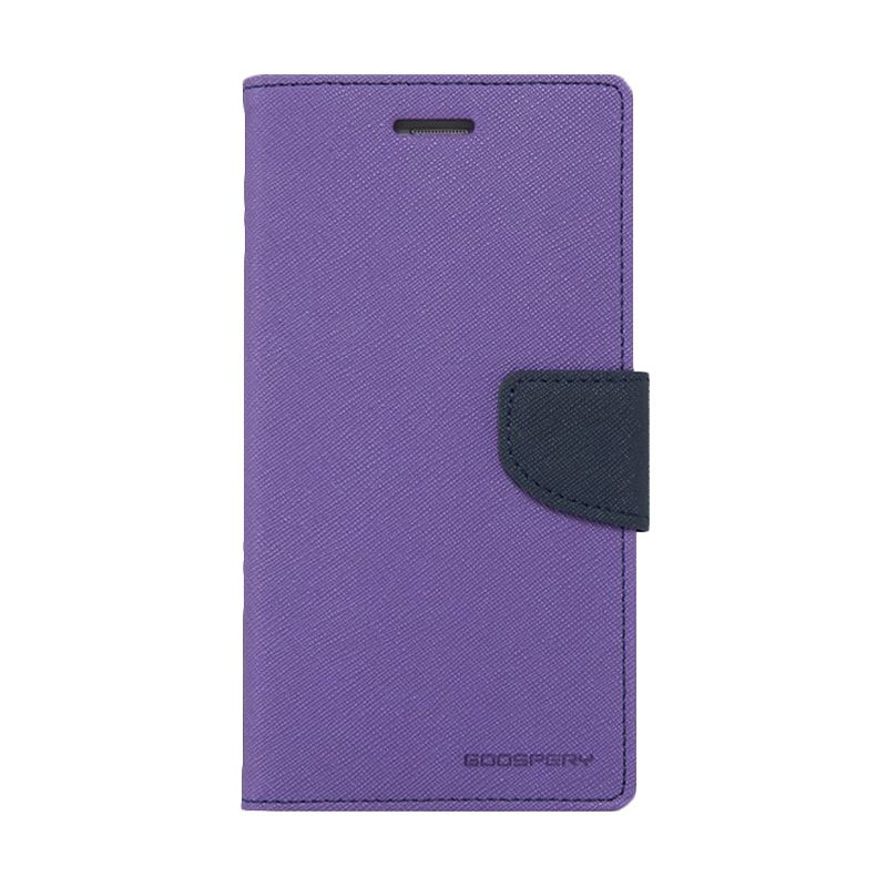 Mercury Goospery Fancy Diary Purple Navy Casing for Xperia Z