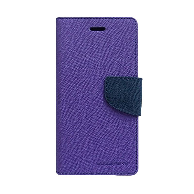 Mercury Goospery Fancy Diary Purple Navy Flip Cover Casing for Xiaomi Note 2