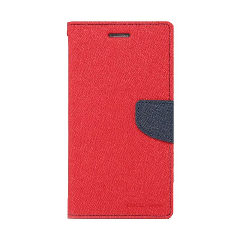 Mercury Goospery Fancy Diary Red Navy Casing for Galaxy S6