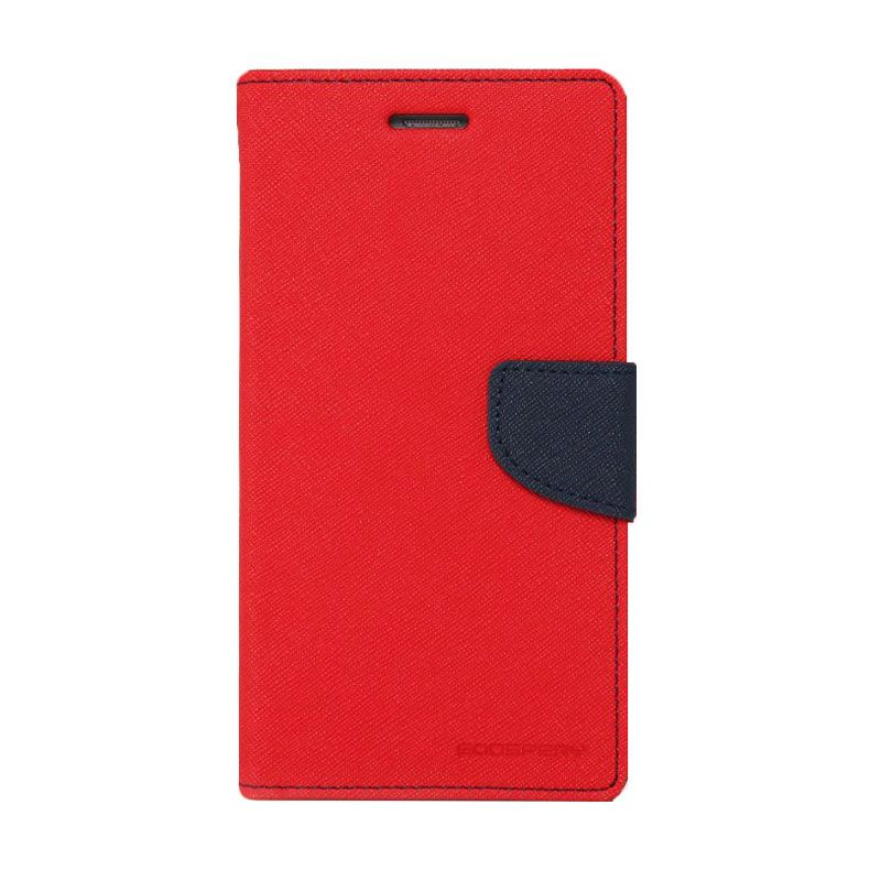 Mercury Goospery Fancy Diary Red Navy Casing for Galaxy Note 3 Neo