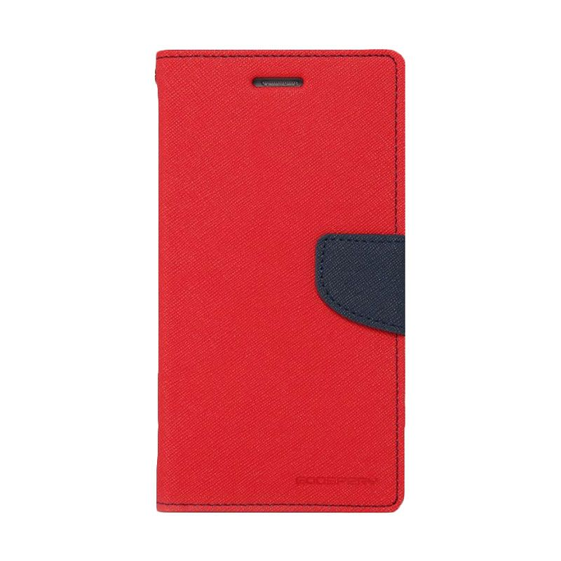 Mercury Goospery Fancy Diary Red Navy Casing for Galaxy Note 3