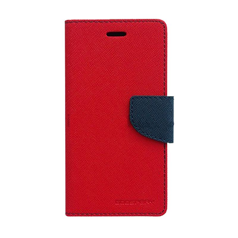 Mercury Goospery Fancy Diary Red Navy Casing for Galaxy S4 mini
