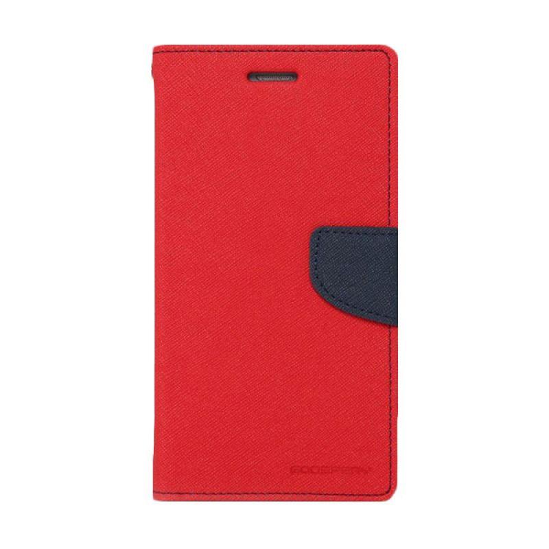 Mercury Goospery Fancy Diary Red Navy Casing for Galaxy S4