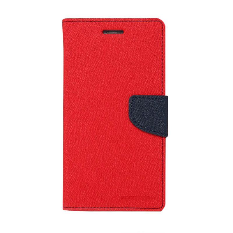 Mercury Goospery Fancy Diary Red Navy Casing for Grand Prime
