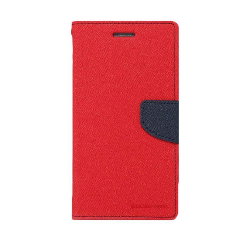 Mercury Goospery Fancy Diary Red Navy Casing for HTC One Mini