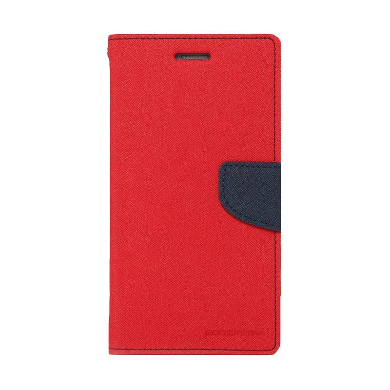 Mercury Goospery Fancy Diary Red Navy Casing for iPhone 4 or 4S