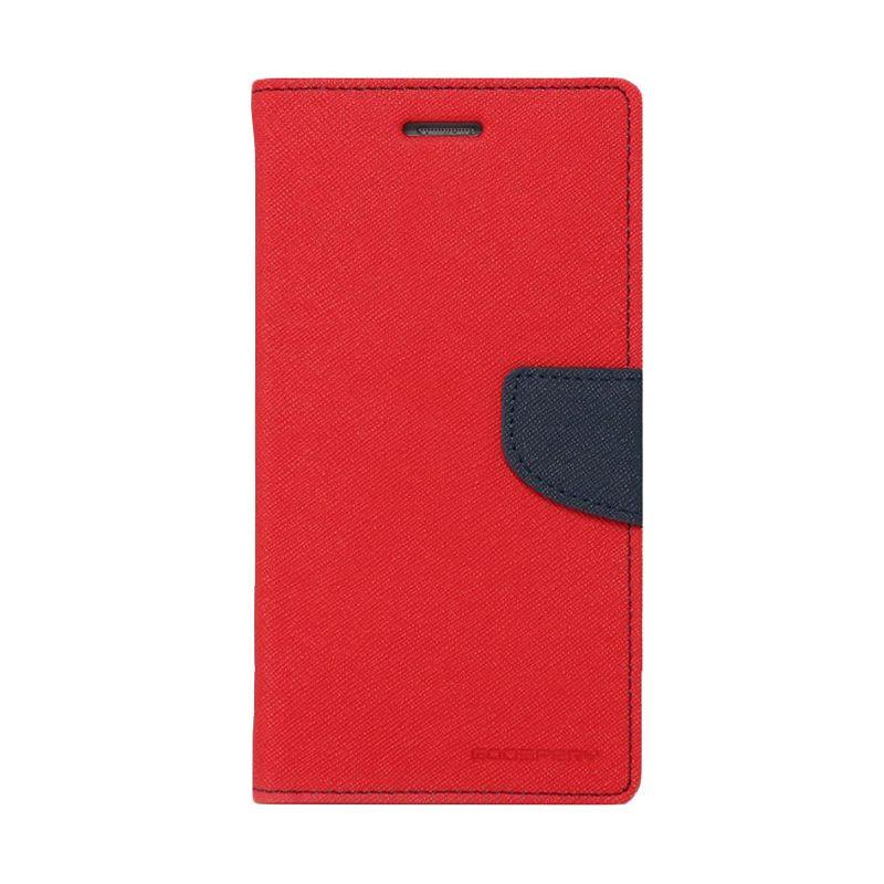 Mercury Goospery Fancy Diary Red Navy Casing for LG G3 Stylus