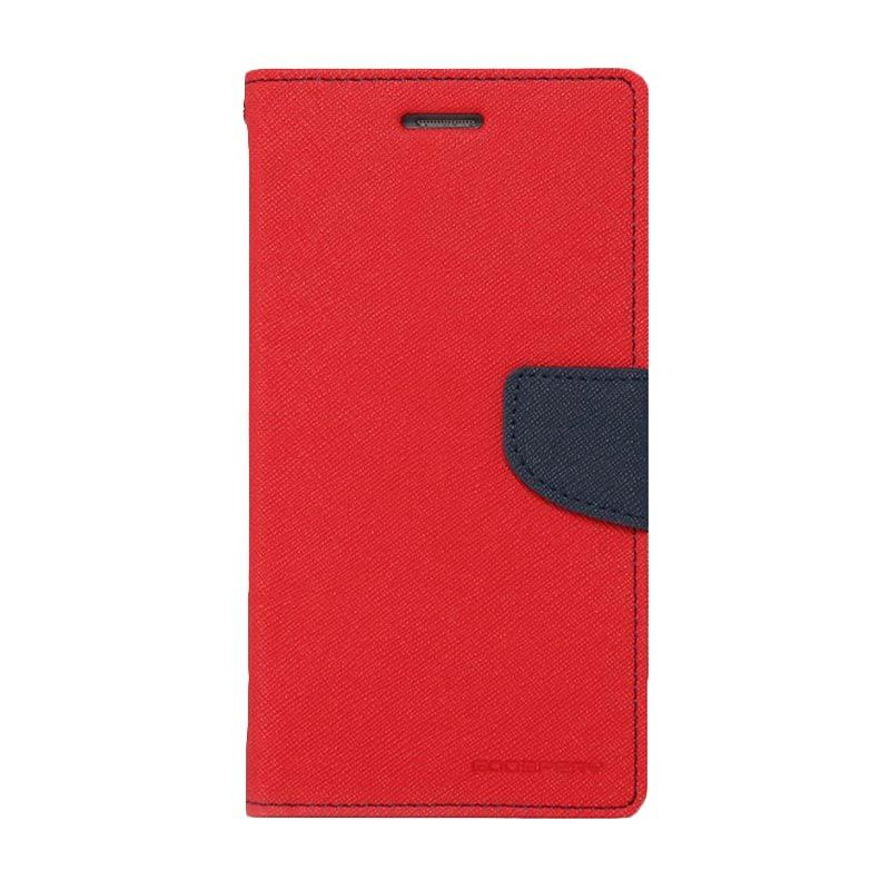 Mercury Goospery Fancy Diary Red Navy Casing for LG G3