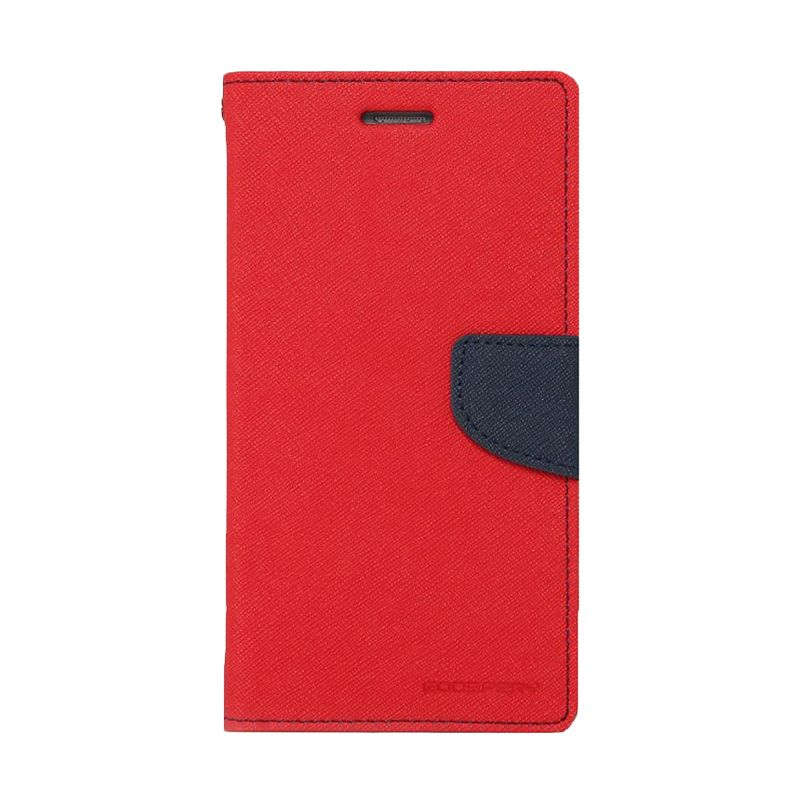 Mercury Goospery Fancy Diary Red Navy Casing for Samsung Galaxy Note 4 edge