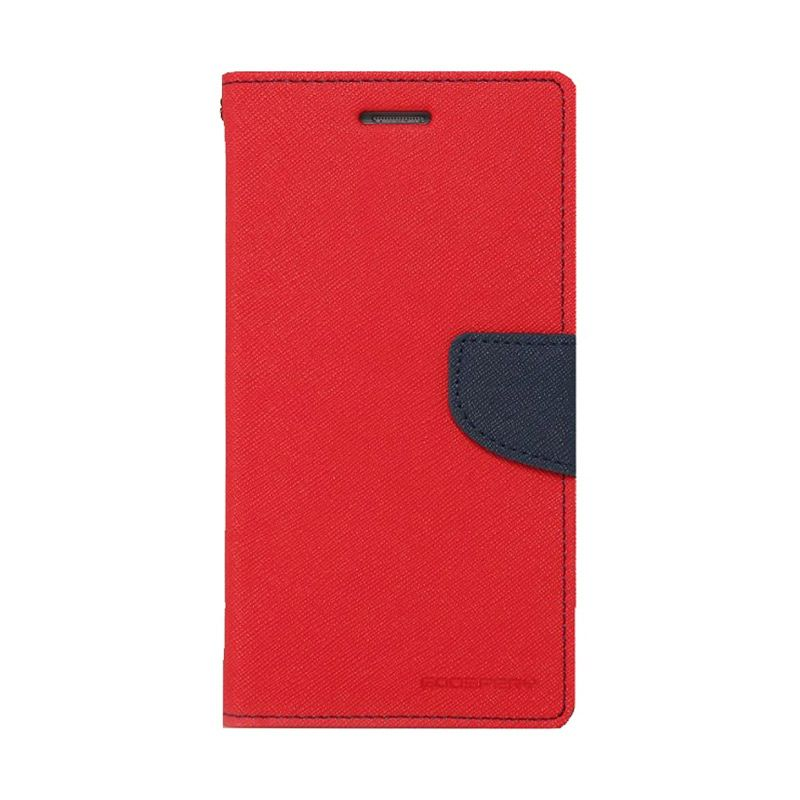 Mercury Goospery Fancy Diary Red Navy Casing for Xperia T3