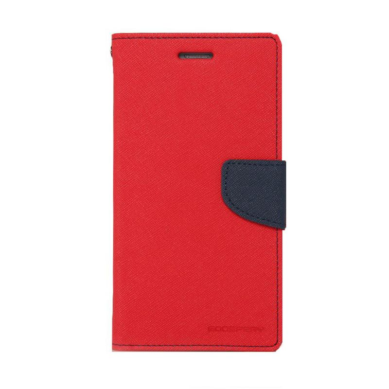 Mercury Goospery Fancy Diary Red Navy Flip Cover Casing for Galaxy Note Edge