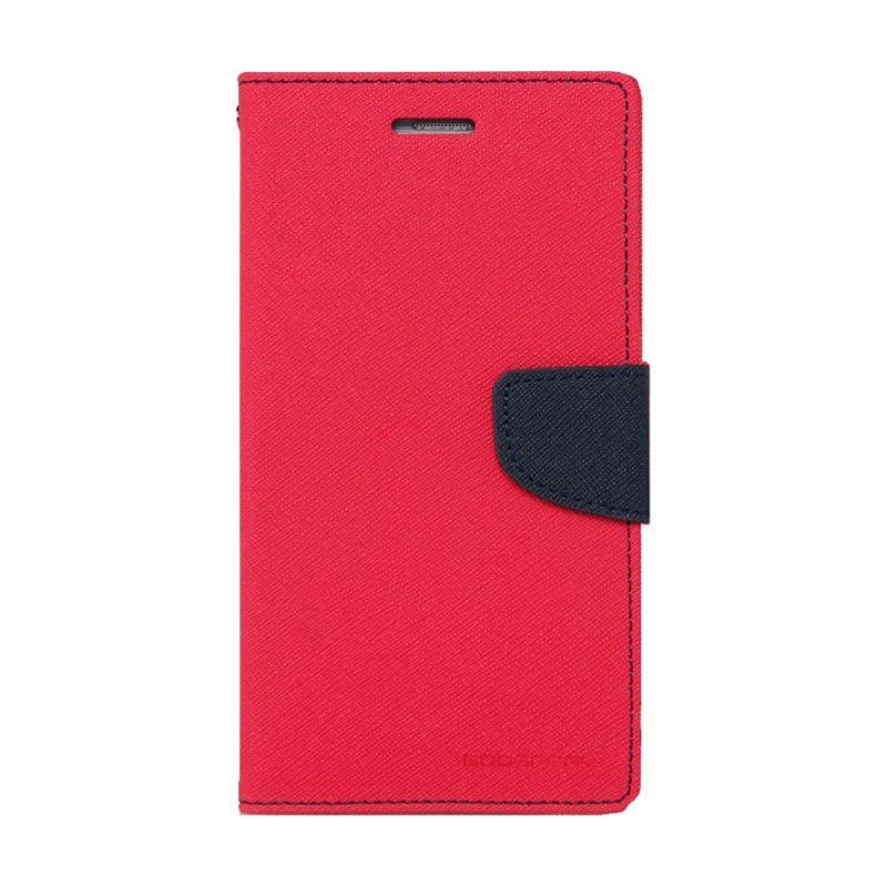 Mercury Goospery Fancy Diary Red Navy Flip Cover Casing for Oppo Find 7