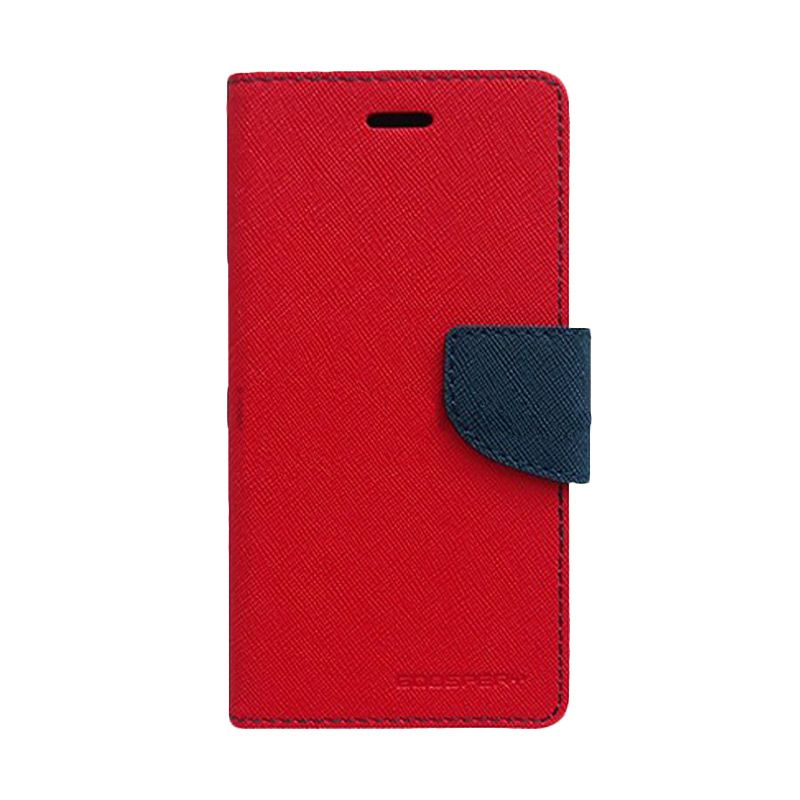 Mercury Goospery Fancy Diary Red Navy Flip Cover Casing for Xiaomi Note 2