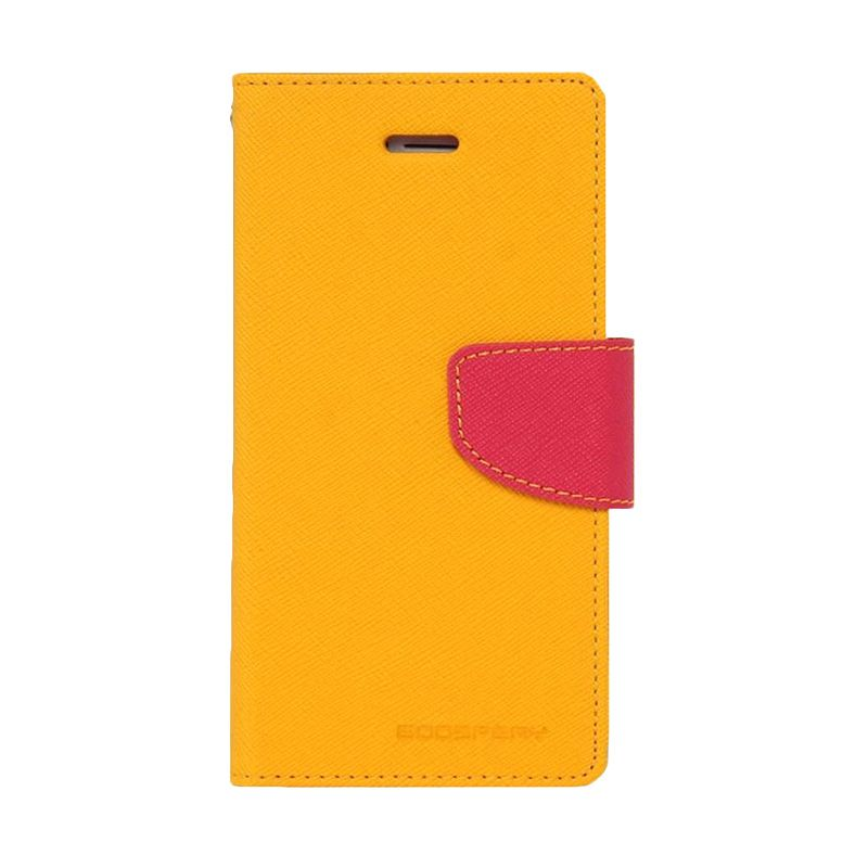 Mercury Goospery Fancy Diary Yellow Hot Pink Casing for Xperia T3