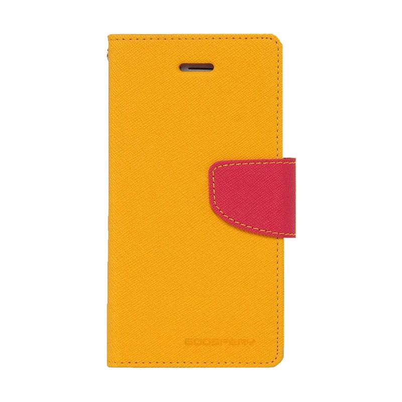Mercury Goospery Fancy Diary Yellow Hot Pink Casing for Samsung Galaxy Note 4 edge
