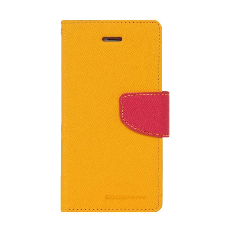 Mercury Goospery Fancy Diary Yellow Hotpink Casing for Xiaomi Mi4i