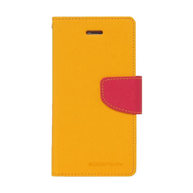 Mercury Goospery Fancy Diary Yellow Hotpink Casing for Xiaomi Note