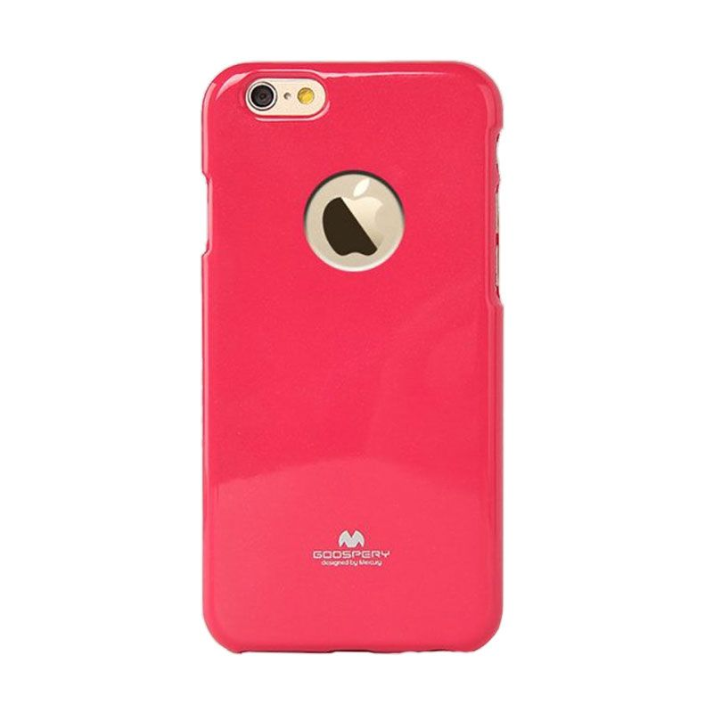 Mercury Goospery Jelly Glitter Hotpink Casing for iPhone 6