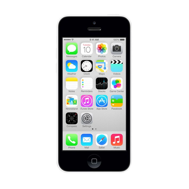 Diskon Apple iPhone 5C 32 GB White Smartphone [Refurbished]