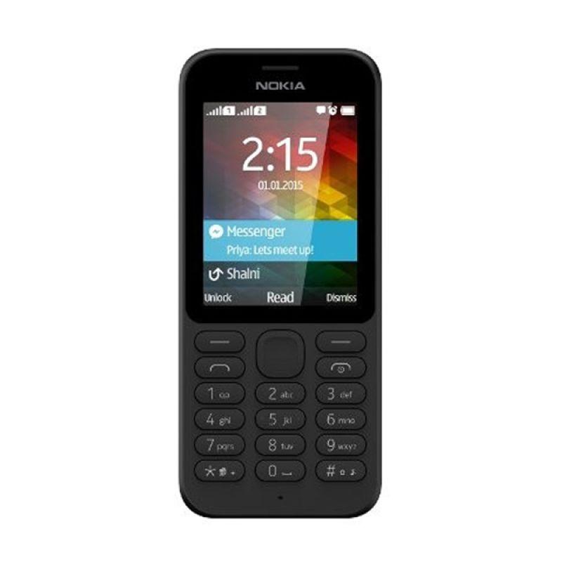 Nokia 215 Hitam Handphone [Dual SIM]