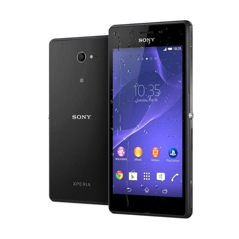 Sony Xperia M2 Aqua Hitam Smartphone [8 GB]