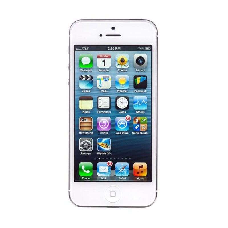 Apple iPhone 5 64 GB Putih Smartphone [Refurbished Garansi Distributor]