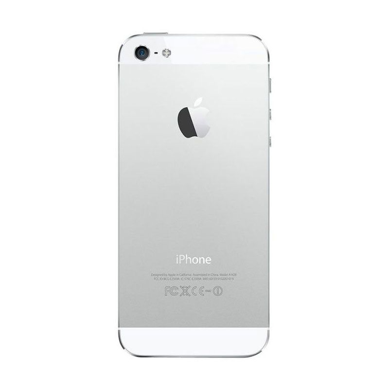 Diskon Apple iPhone 5S 16 GB White Smartphone [Refurbished Garansi Distributor]