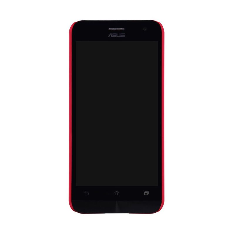 Nillkin Super Frosted Shield Merah Casing for Asus Zenfone 2 ZE500CL + Screen Protector