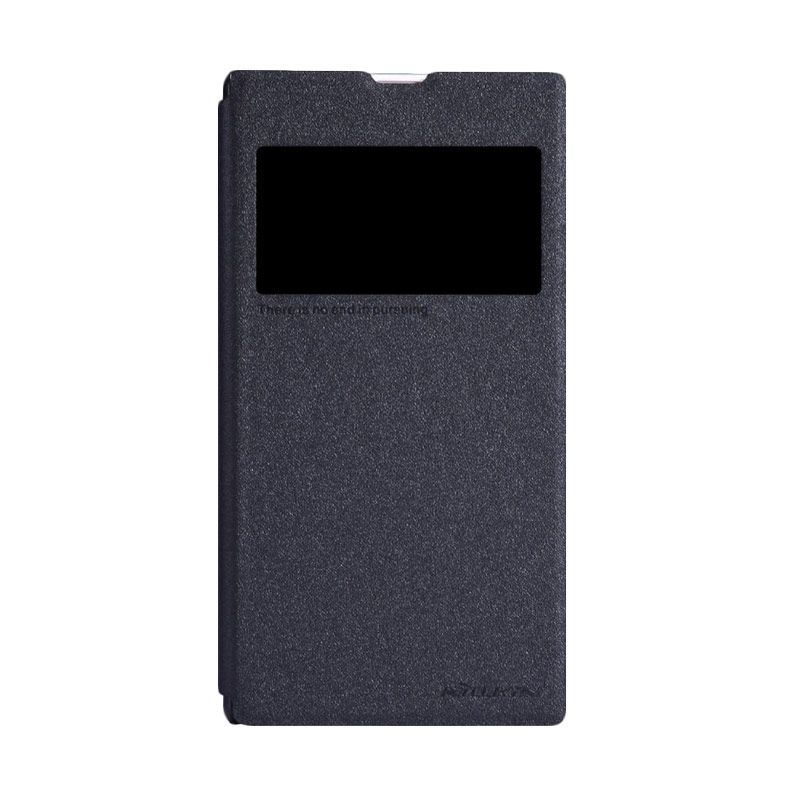 Nillkin Sparkle Leather Black Casing for Sony Xperia Z1 L39h
