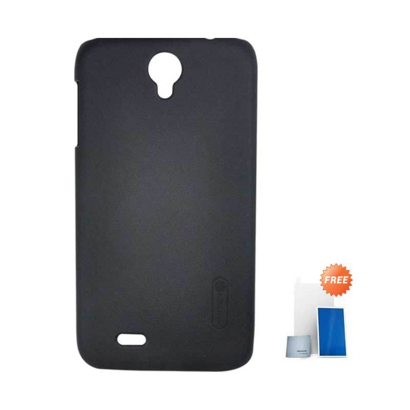 Nillkin Super Frosted Shield Black Casing for Lenovo A850 + Screen Protector
