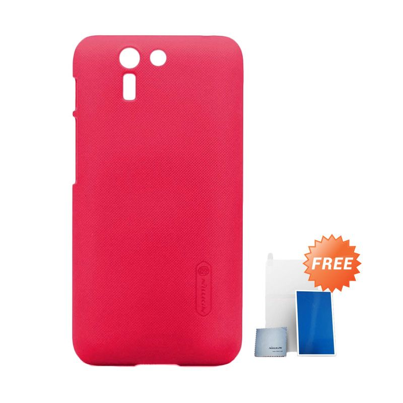 Nillkin Super Frosted Shield Merah Casing for Asus Padfone S + Screen Protector