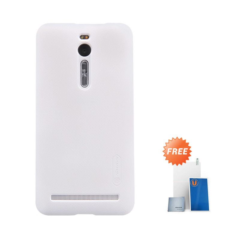 Nillkin Super Frosted Shield Putih Casing for Asus Zenfone 2 5.5 Inch ZE551ML + Screen Protector