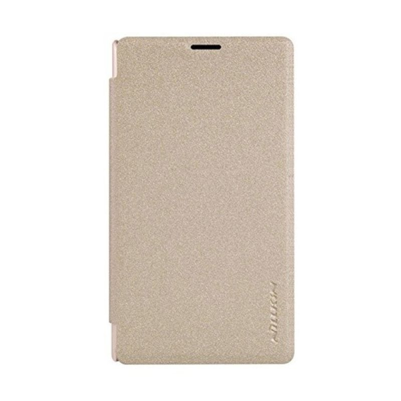 Nillkin Sparkle Leather Gold Casing for Nokia Lumia 435